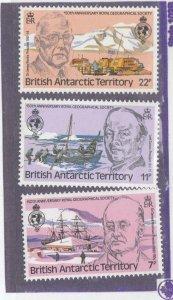 BRITISH ANTARCTIC TERRITORY #s 77-78,80 VF-MNH WATERMARKS SIDEWAYS