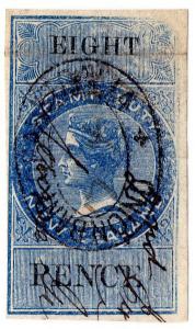 (I.B) New Zealand Revenue : Stamp Duty 8d (reversed & inverted watermark)