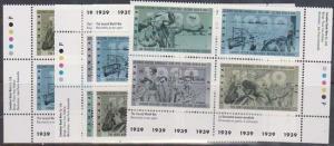 Canada USC #1263a Mint MS Imprint Blocks VF-NH Cat. $18. 1989 Second World War