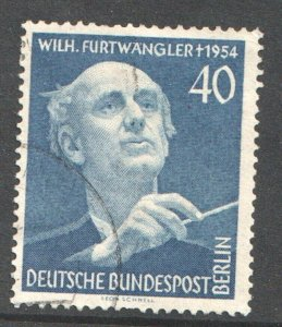 1955 WEST BERLIN GERMANY - S.G: B 125 - FURTWANGLER(CONDUCTOR) - USED