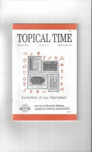 Topical Time Magazine MAY-JUN 2001  Number 307, ATA Journal