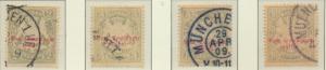 Bavaria (German State) Stamps Scott #J10 To J13, Used - Free U.S. Shipping, F...