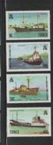 TUVALU #77-80 1978 SHIPS MINT VF NH O.G