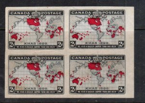 Canada #85a Extra Fine Mint Imperforate Block Ungummed As Issued