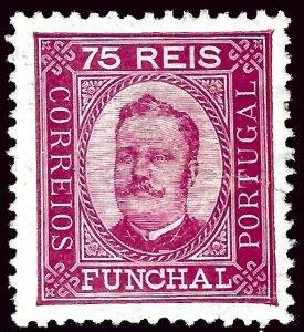 Funchal Portugal Sc#7 Mint F-VF hhr...Popular Country!