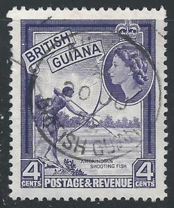 British Guiana #256 4¢ Indian Shooting Fish