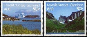 GREENLAND 1995 NORDEN: Tourism. Iceberg Mountains Nature. Complete set, MNH