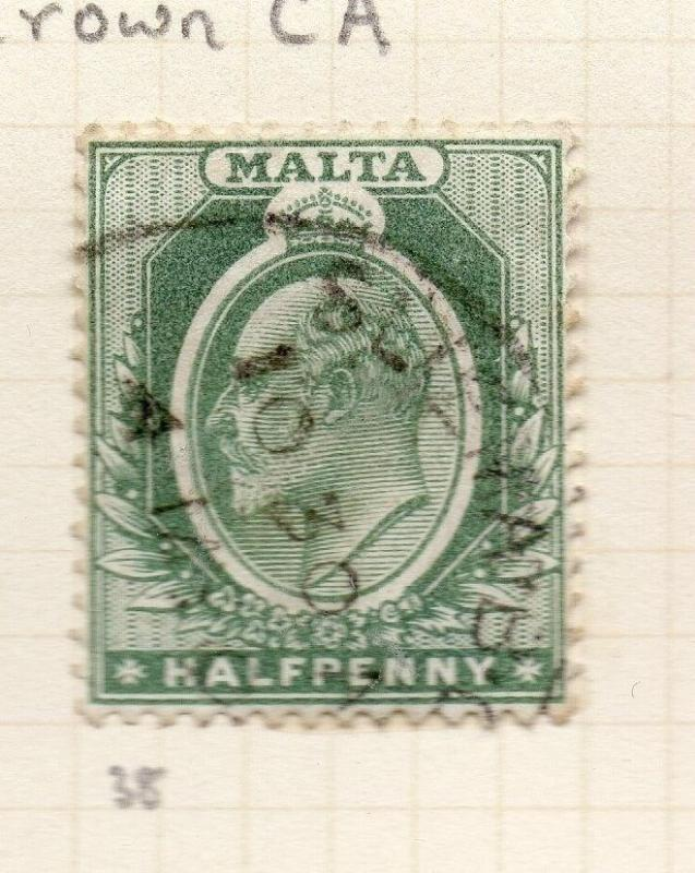 Malta 1903-04 Early Issue Fine Used 1/2d. 259512