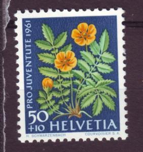 J15433 JLstamps 1961 switzerland hv set mnh #b312 flower