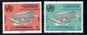 KUWAIT 323-324 MNH SCV $2.10 BIN $1.05 WHO