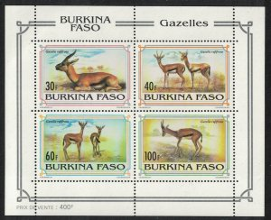 Burkina Faso WWF Red-horned Gazelle MS SG#MS1074 MI#Block 139