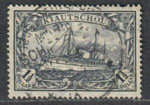 $German Colony Kiauchau Sc#41 used, VF, 1 S.P., Cv. $225