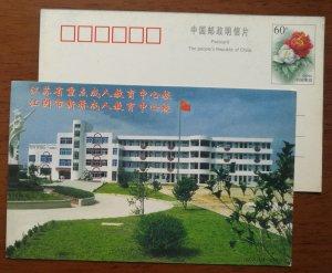 Basketball stand,China 1999 Jiangyin Adult Education Center School advert PSC