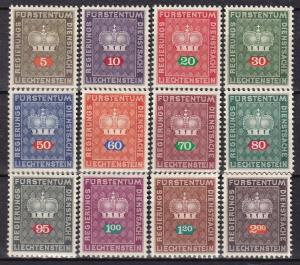 Liechtenstein #O47-58 MNH CV $6.20 (A19811)