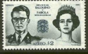 MEXICO C306, Visit of King and Queen of Belgium. MNH. VF.