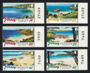 Jersey Tourism Beaches 6v Margins Control Numbers SG#752-57n