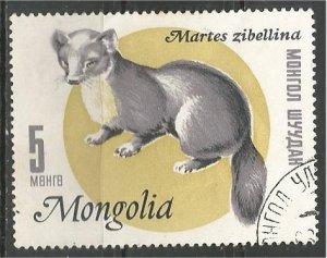 MONGOLIA, 1966, CTO 5m, Sable Scott 398