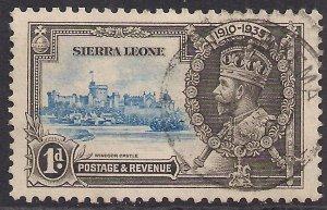 Sierra Leone 1935 KGV 1d Silver Jubilee used SG 181 ( D1240 )