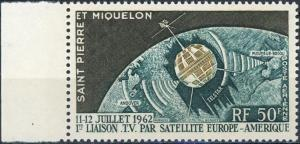 St. Pierre and Miquelon #C26 Telstar and Globe MNH