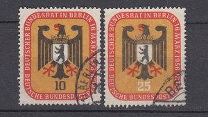 J28724, 1956 germany berlin set used #9n118-9 arms of berlin