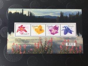 Canada Mint NH #2194 Flower definitives - souvenir sheet