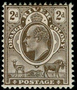 SOUTH AFRICA - Orange Free State SG141, 2d brown, M MINT. Cat £10. WMK CA