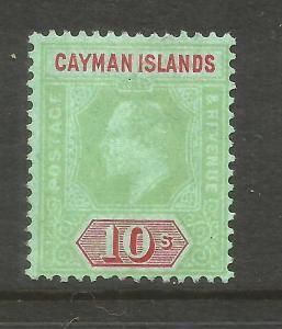 CAYMAN ISLANDS 1907-09  10/- KEVII  MLH  SG 34