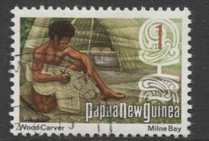 Papua New Guinea - Scott 369 - Cultural Scenes -1973 - VFU - Single 1c Stamp