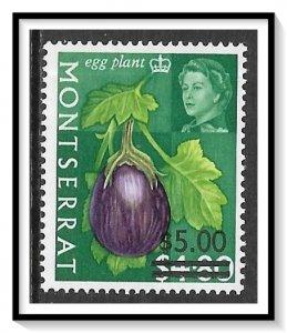 Montserrat #198 Fruits & Vegetables Surcharged MH