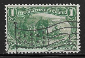USA 285: 1c Trans-Mississippi Exposition, Used, VF+, Flag cancel