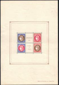 FRANCE 329 Paris Exhibition PEXIP 1937 S/S VF MH (30219a)