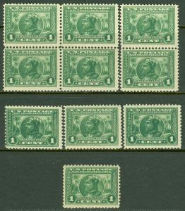 EDW1949SELL : USA 1913 Scott #397. 10 stamps. All Fresh & MNH. Catalog $400.00.