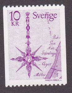 Sweden # 1257, North Arrows Map, NH, 1/2 Cat.