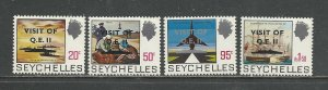Seychelles Scott catalog # 323-326 Mint NH