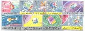 Umm Al Qiwain Mi.78A-86A MNH Space