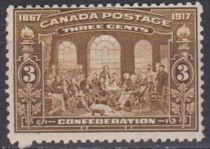 Canada #135 Fine Unused CV $47.50 (B345)