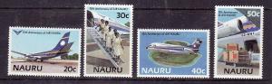 Nauru-Sc#303-5-Unused NH set-Planes-Aircraft-Air Nauru-1985-