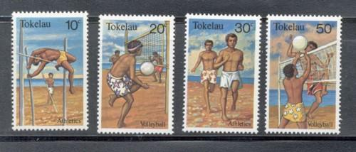 Tokelau Sc 77-0 1981 Volleyball Polevault stamp set mint NH