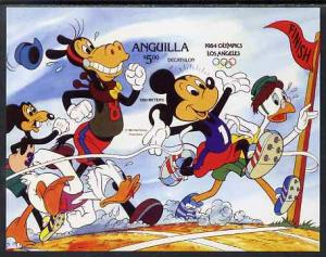 Anguilla 1984 Disney\'s Los Angeles Olympic Games m/sheet...