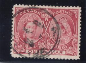 Canada #61 Very Fine+ Used With Ideal 1905 CDS Cancel **With Certificate**
