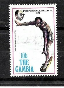 Gambia Stamp- Scott # 377/A57-10b-Mint/LH-1973-OG