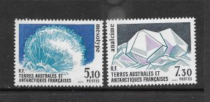 FRENCH SOUTHERN ANTARCTIC TERRITORIES #146-7 MINERALS   MNH