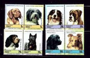 Tuvalu Nukulaelae 35-38 MNH 1985 Dogs in pairs