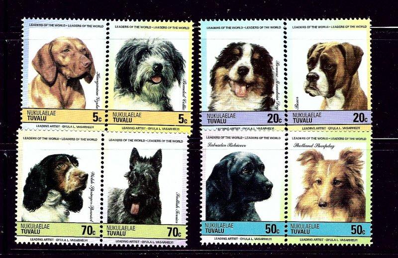 Tuvalu Nukulaelae 35-38 MNH 1985 Dogs in pairs