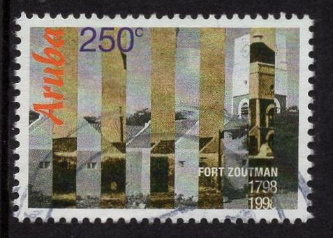 Aruba   #159   used  1998  Fort Zoutman 250c