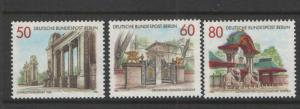 Germany Berlin 1986 Sc# 9N512-9N514 Portals & Gateways MNH XF