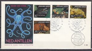 Netherlands Antilles. Scott cat. B68-71. Corals issue. First day cover. ^