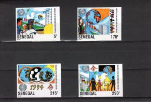 Senegal 1994 Int.Year Family/Flags Set(4) Imperf Sc 1113/6