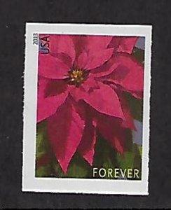 Modern Imperforate Stamps Catalog # 4816d Single Poinsettia Christmas Flower