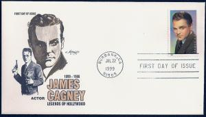UNITED STATES FDC 33¢ James Cagney 1999 Artmaster